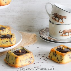 Savarins tigrés au chocolat