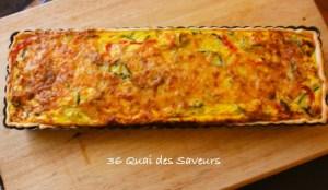 tarte provencale courgette poivron