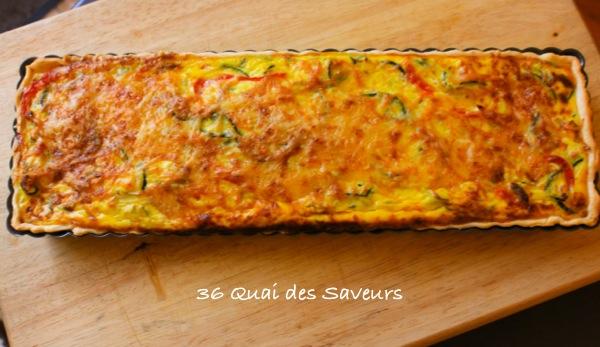 Tarte provençale courgette et poivron