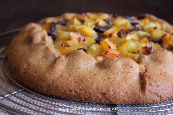 tarte rustique aux pommes pate sablée spéculos2