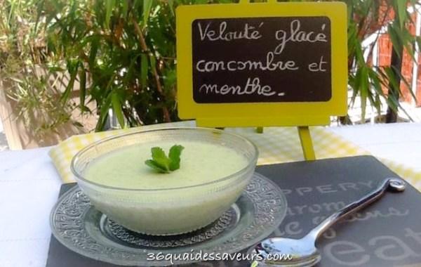 velouté glacé concombre et menthe