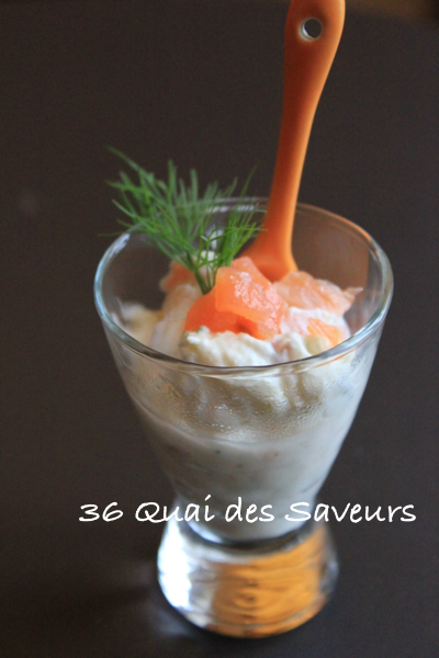 Verrine saumon et ricotta