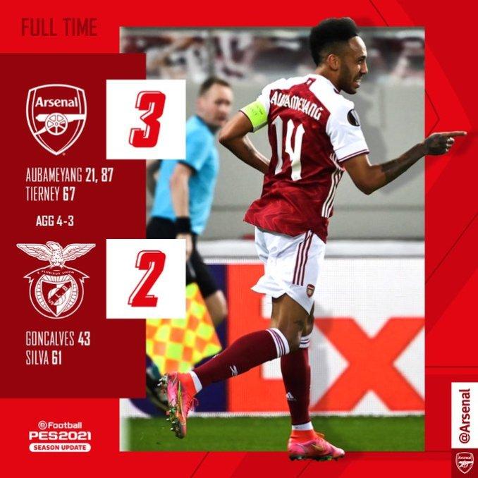 Arsenal vs Benfica 3-2 – Highlights Download