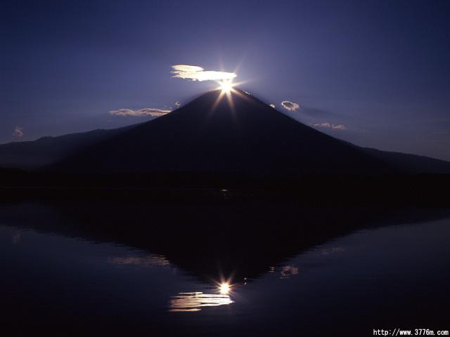ダイヤモンド富士/田貫湖
