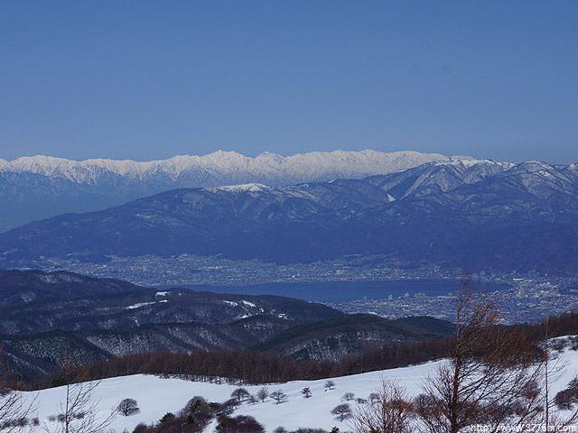 北アルプスと諏訪湖/入笠山
