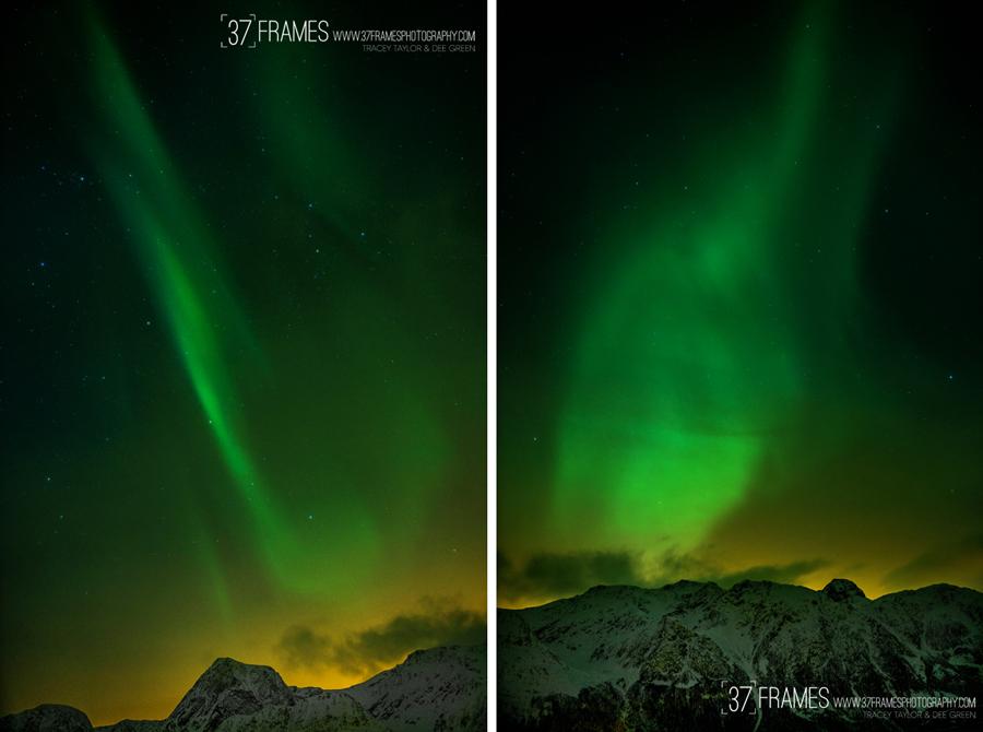 37 frames aurora