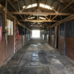 View of our stables used for boarding guest horses.