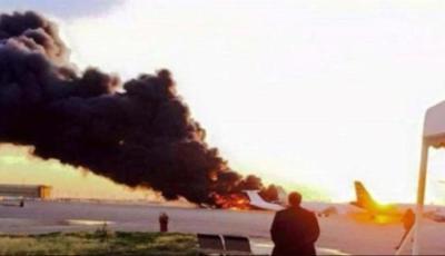 انفجار طائرة شحن عسكرية في ليبيا