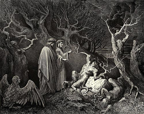 The Inferno, Canto 13, Gustave Doré