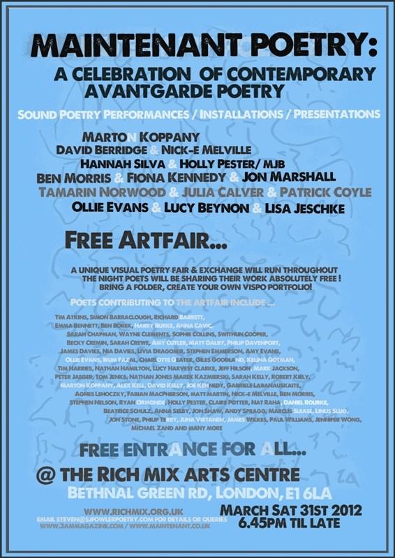 maintenant-avantgardecelebration-poster