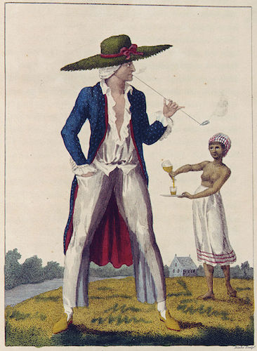 William Blake (after John Gabriel Stedman), A Surinam Planter in his Morning Dress, c. 1791