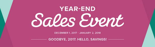 2017 Year End Clearance Banner