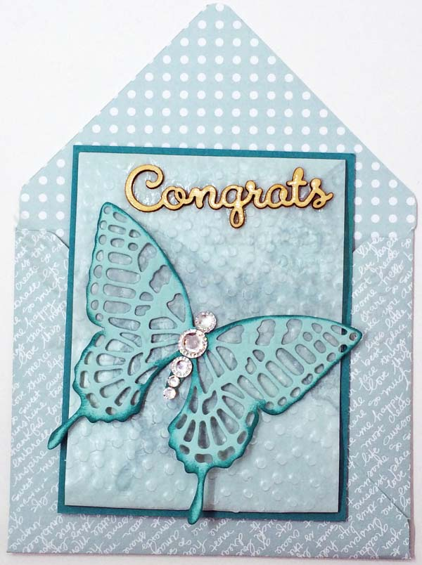 Butterfly Congrats Card - Visit http://www.3amstamper.com