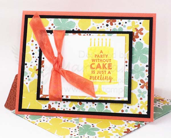 Calypso Coral Birthday Card - Visit http://www.3amstamper.com