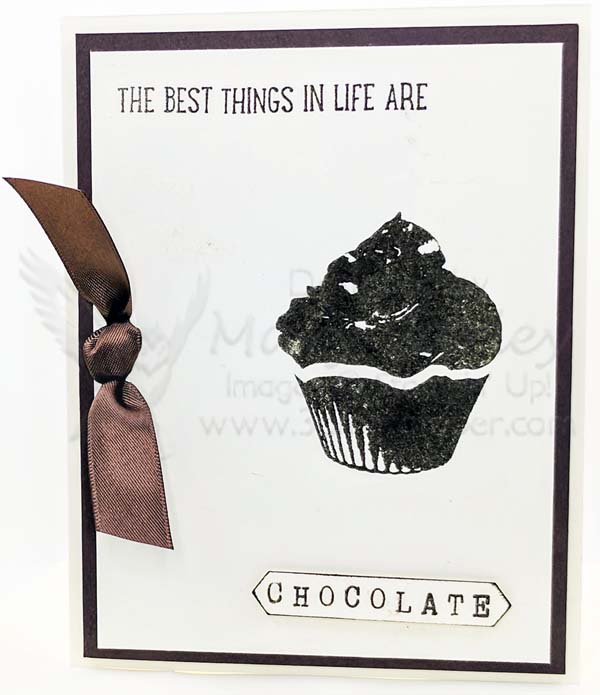 Chocolate & Vanilla Card - visit http://www.3amstamper.com