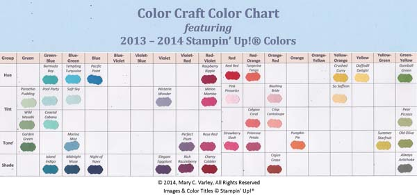 Color Chart To Help You Color Craft 3amstamping Pad