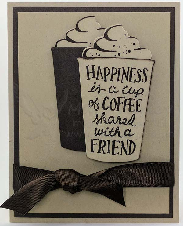 Neutrals Only: Crumb Cake & Early Espresso Happiness Card - visit http://www.3amstamper.com