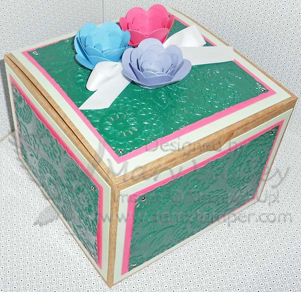 Gift Box with Foil Embossing-Visit http://www.3amstamper.com