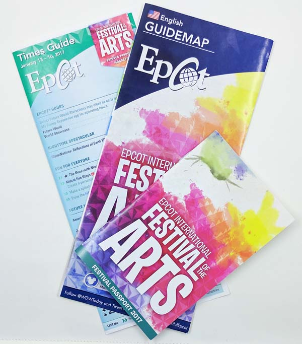 Epcot Festival of the Arts Brochures