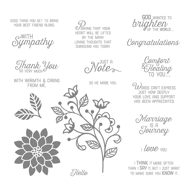 Flourishing Phrases Stamp Set