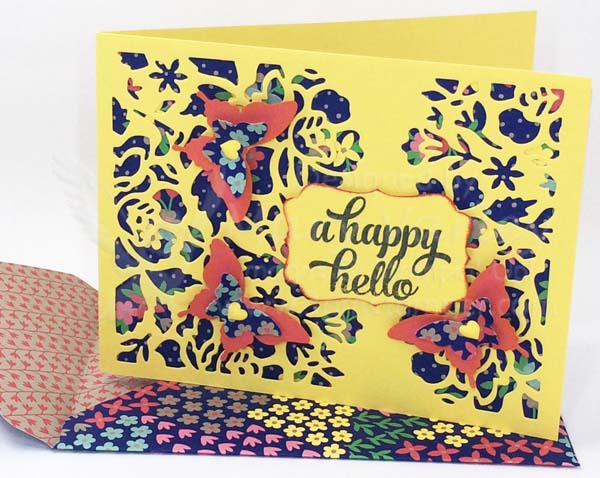 Lacy Hello Card (revised) - Visit http://www.3amstamper.com