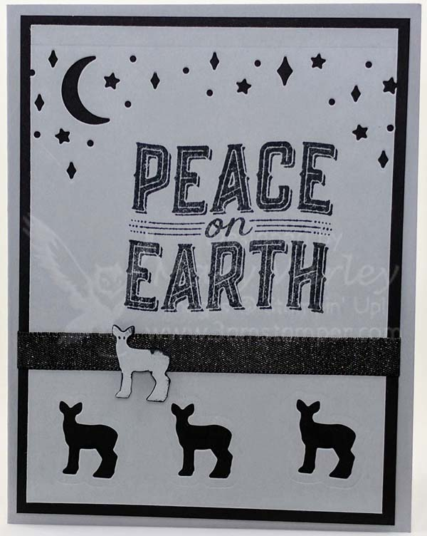 Peace on Earth Card - Smoky Slate - Visit http://www.3amstamper.com