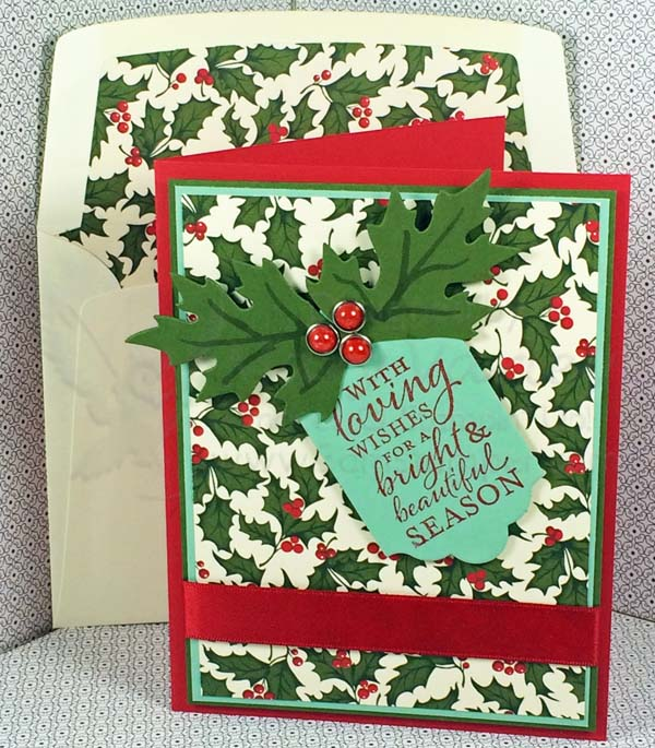 Real Red Complementary Colors Christmas Card - Visit http://www.3amstamper.com