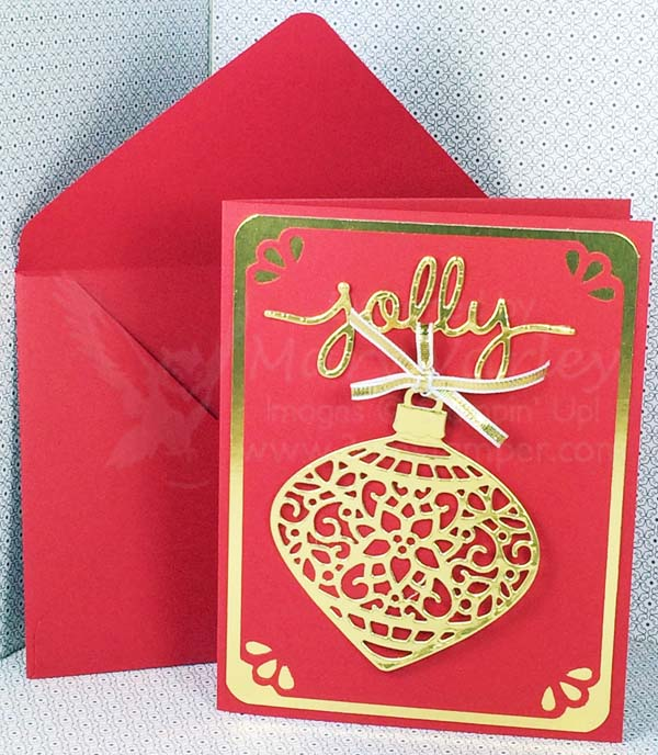 Real Red Jolly Ornament Card - visit http://www.3amstamper.com