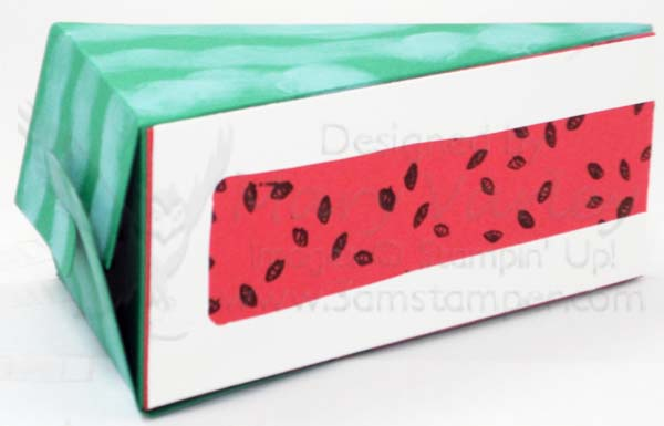 Watermelon Party Favor Box - Visit http://www.3amstamper.com