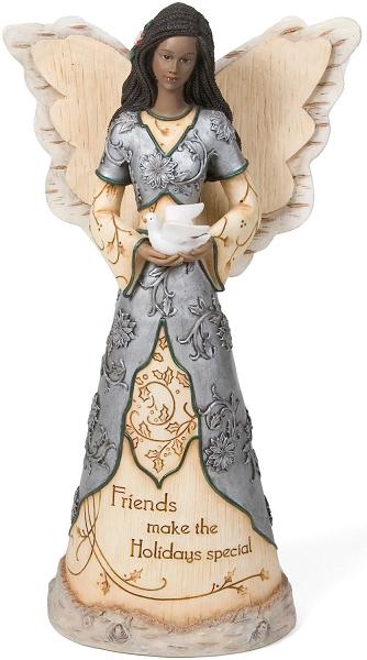 Holiday Friends Elements Black Angel Figurine