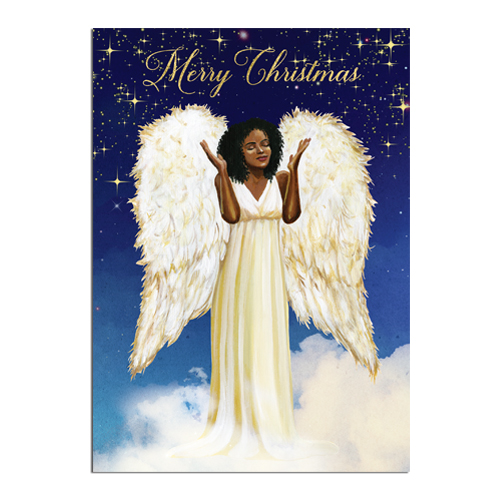 Angel African American Christmas Cards