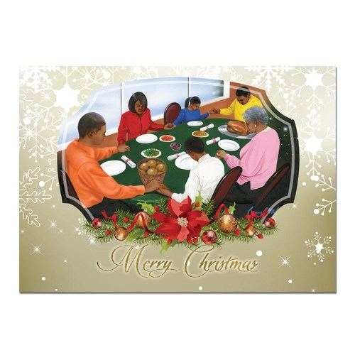 Family African American Christmas Cards
