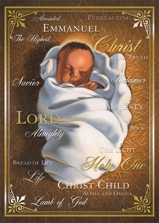Names Of Christ Child African American Christmas Cards