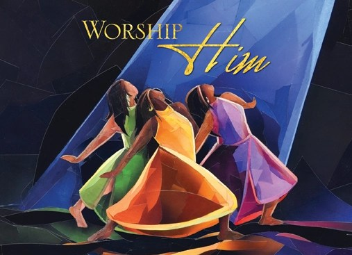 Worship Him African American Christmas Cards