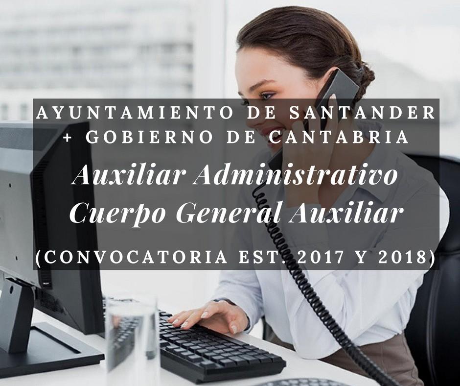 curso-auxiliar-administrativo-gobierno-cantabria-3catorce-academia-santander Oposiciones Administrativo en la Oferta empleo publico 2017 de Medio Cudeyo Cantabria