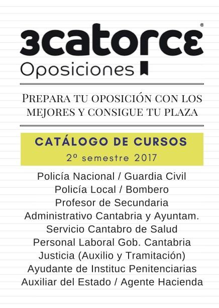 Catalogo-cursos-oposiciones-3catorce-academia-santander-cantabria Academia oposiciones Cantabria