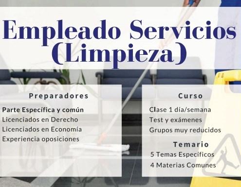 Curso empleado servicios limpieza oposiciones cantabria 3catorce academia santander