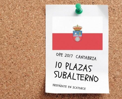 Nuevo curso subalterno Cantabria 2018
