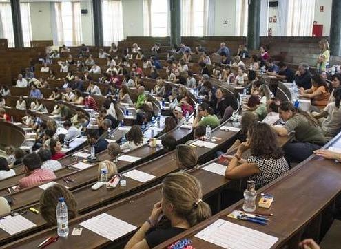 Distribución aulas exámenes Gestión Oposiciones Justicia