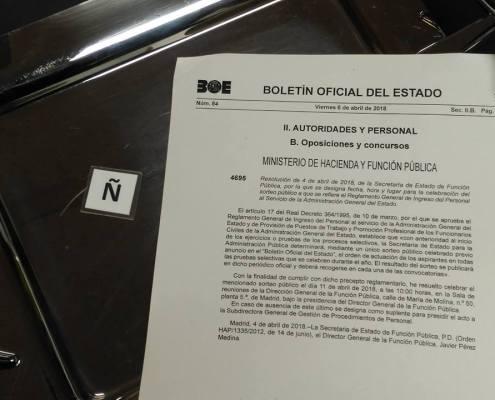 letra comienzo oposiciones 2018