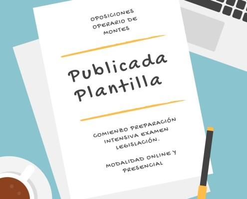 Publicada Plantilla Oposiciones Operario de Montes Cantabria