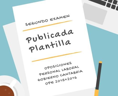 Plantilla Segundo Examen Oposiciones Laborales Cantabria
