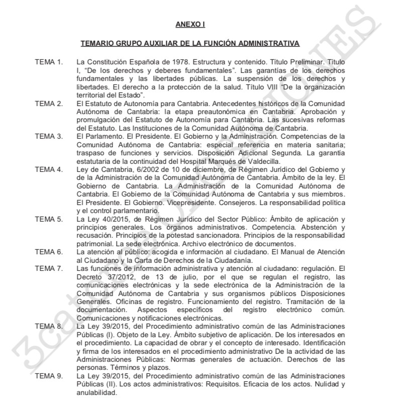 Temario-Auxiliar-Administrativo-Servicio-Cantabro-de-Salud-1 Curso Intensivo Auxiliar Administrativo Servicio Cantabro de Salud