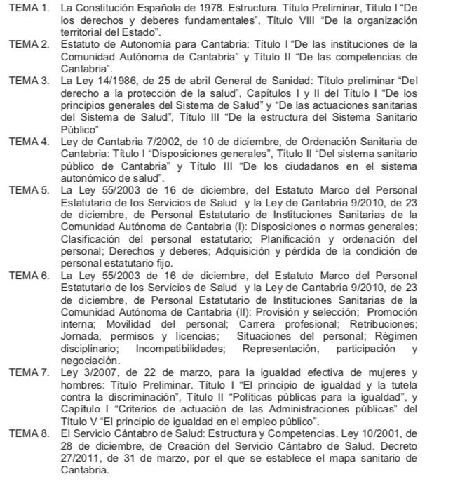 Temario-Celador-1 Actualidad Curso Celador Servicio Cantabro de Salud