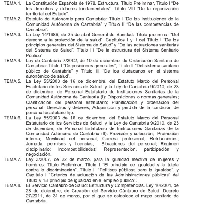 Temario-Celador-1 Examen oposicion Celador SCS Cantabria