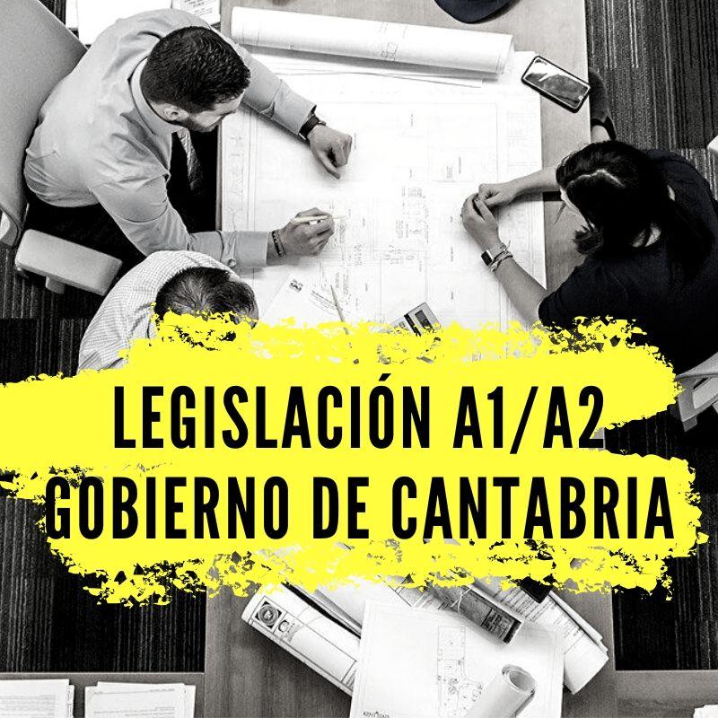 LEGISLACION-A1-A2-GOBIERNO-DE-CANTABRIA Curso Legislativo Oposiciones Funcionarios Cantabria 2019 2020