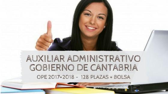 Oposiciones-auxiliar-administrativo-cantabria-2019 Publicadas las plazas OPE 2018 Cantabria