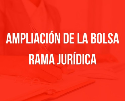 Ampliacion bolsa Rama Juridica Cantabria