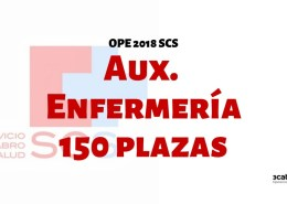 Confirmadas-150-plazas-oposiciones-auxiliar-enfermeria-SCS-2019-1 Convocatoria Oposiciones SCS OPE 2017