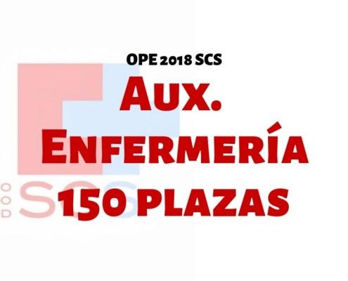 Confirmadas 150 plazas oposiciones auxiliar enfermeria SCS 2019